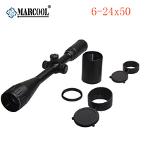 Marcool 6 24x50 AOIRGB Red Green Blue Dot Sight Rifles Scope Illuminated Tactical Aim Riflescope Hunting Optics With Mounts