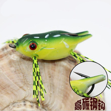 1Pc Suitable For Beginners Silica Gel Frog Soft Lures Bait For Sea Carp Bass River Fish Crankbait Tools Fishing Gear Accessories