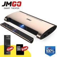 JMGO смарт проектор M6. Android 7,0, Поддержка 4 К, 1080 P декодирования. Набор в wifi, Bluetooth, HDMI, USB, лазерная ручка, мини проектор
