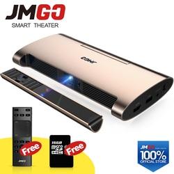 JMGO proyector inteligente M6. ¿Android 7,0 soporte 4 k 1080 P decodificar? Conjunto en WIFI Bluetooth HDMI USB láser pluma MINI proyector