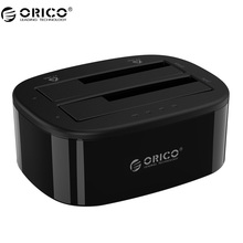 ORICO 2.5/3.5 inch Hard Drive Docking Station USB3.0 1 to 1 Clone Dual-bay HDD and SSD Hard Drive Dock -Black (6228US3-C)