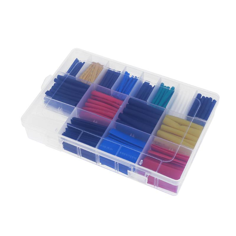 Polyolefin 2:1 530/580pcs Heat Shrink Tube Insulation Electronic Sleeve Tubing Wrap Wire Assorted Kit Heat Shrink Tubes 5 Color