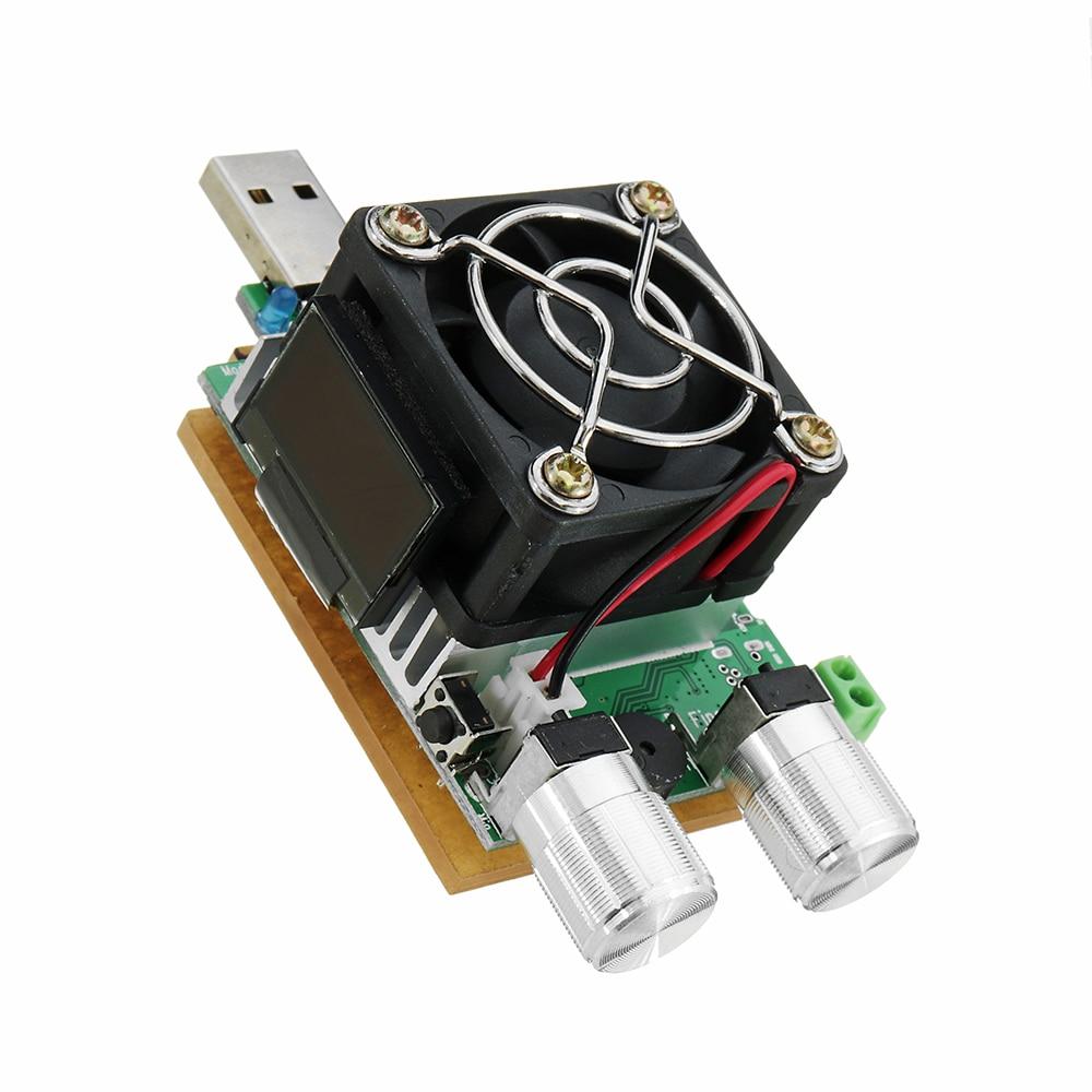 QC2.0/3.0 35W USB Electronic Load Adjustable Constant Current Aging Resistor Battery Voltage Capacity Tester Voltmeter New qc2 0 3 0 mtk pe trigger ebd usb dc electronic load battery voltage current capacity tester t22