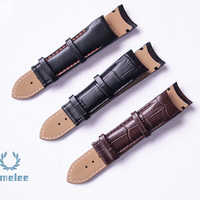 23mm (Buckle 20mm) T035617A T035439 High Quality without Buckle Genuine Leather curved end Watchband For T035