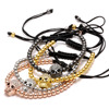 Rinhoo Handmade Beads Skull Head Braided Macrame Charm Wrap Cord Beaded Bracelet Bangles Adjustable Rope Jewelry For Men Women 2
