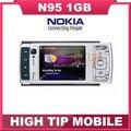 Мобильный телефон N95, nokia разблокированный GSM 3 G 5 mp wi-fi GPS 2,6 дюйма падения отремонтированный