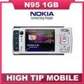 Nokia N95 Original unlocked GSM 3G 5MP WIFI GPS Mobile phone 2.6 inch 1 year warranty Drop free shipping Refurbished