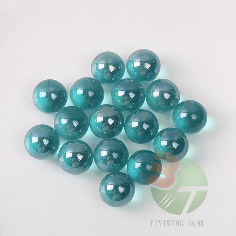 50PCS Glass Marbles Balls 16mm Clear Pinball Machine Charms Home Fish Tank Decoration Vase Aquarium Toys For Kids