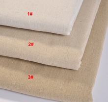 Sanbest Solid Cotton Linen Fabric For Embroidery,DIY Sewing,Sofa,Curtain,Bag,Cushion,Furniture Cover Material,Half Meter
