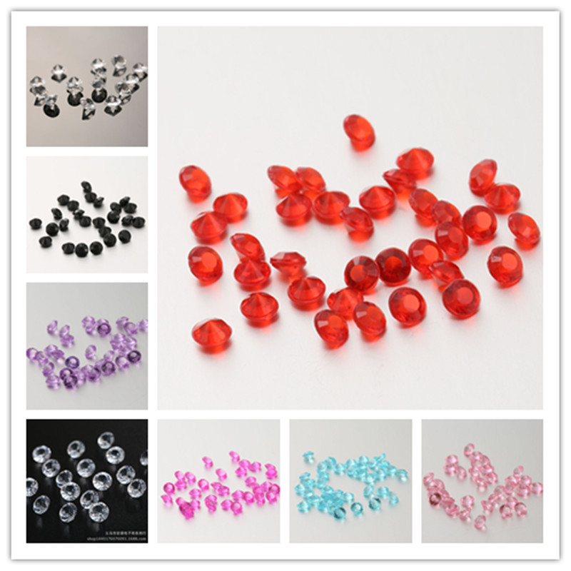 6mm Scatter Diamonds Wedding Party Decoration Confetti Table Diamond