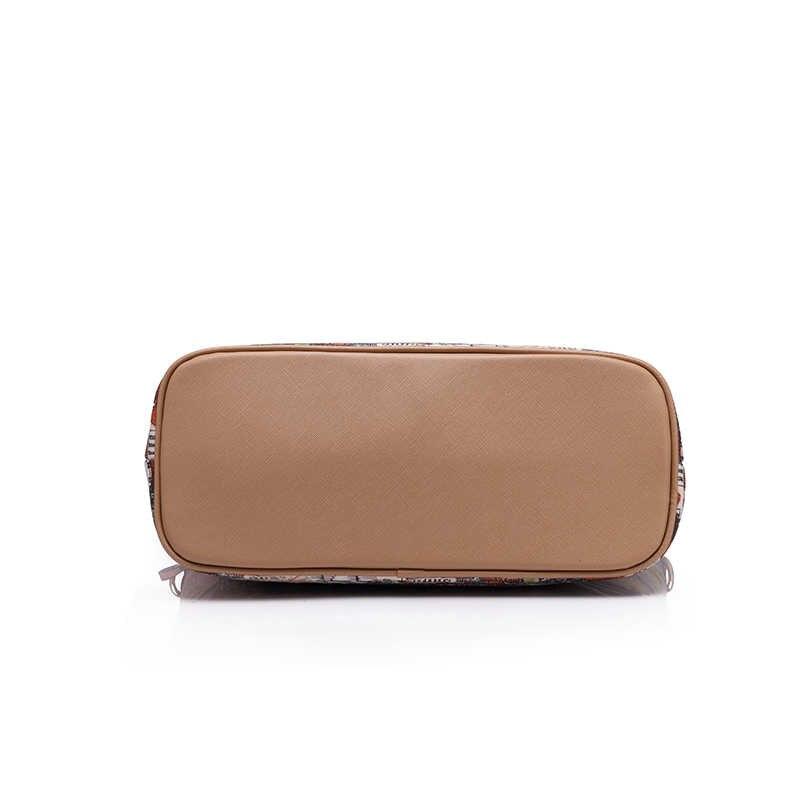 Realer  женщин большой плеча сумочку 3 комплекта старинные печатные сумка Женская кошельки женские сумки через плечо Новинка 2017 года