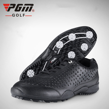 цена на PGM Golf Shoes Men Golf Sneaker Waterproof Sports Sneakers Knobs Buckle Lining Breathable Anti-slip Golf Trainer Sneakers