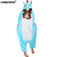 Pegasus Unisex Adult Flannel Hooded Pajamas Cosplay Cartoon Animal Onesies Sleepwear For Women Men