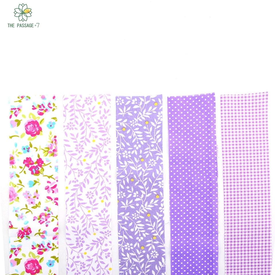 Highqualitypurpleflower Pat Chwork Cotton Fabric Strips
