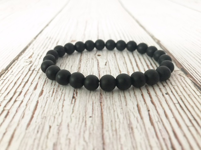Men S Bracelets Natural Matte Black Onyx Bracelet Mala Beads Wrist Gifts For
