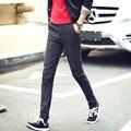 Calças retas masculino magro calças skinny calça casual fluidos plus size calças dos homens