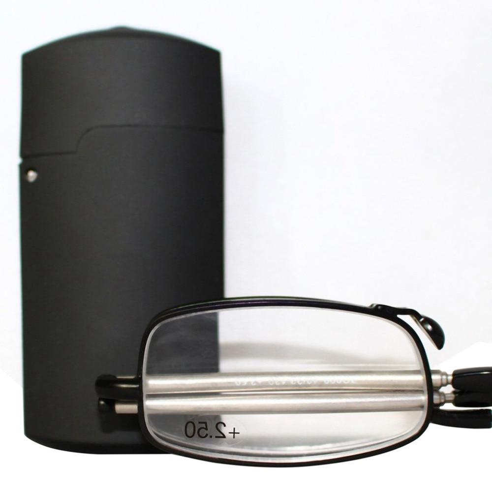 1 Paar Opvouwbaar Opvouwbare Presbyope Bril Rvs Frame Uc Gecoat Unisex Leesbril Met Mini Opbergdoos + 2.5 A30