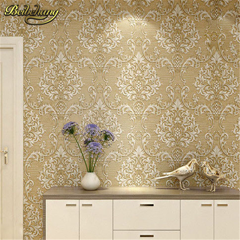 beibehang papel de parede. Beige Textured 3d damask wallpaper 3d wall paper textured damask wallpaper roll 7 colors optional beige floral wallpaper damask wallpaper pvc wall murals free shipping best wallpaper qz0314