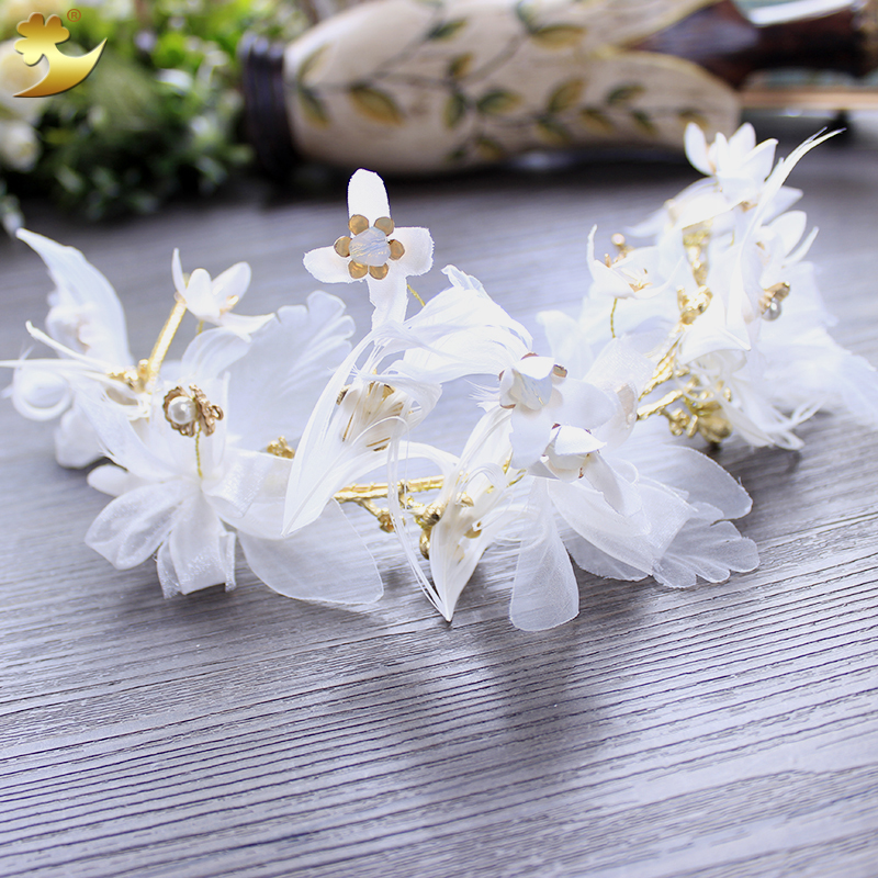 New fashion Floral Bride Headband Wedding Party Festival Decorations Girl Garland Headpiece bride hair accessories tiara 89362 free shipping and hand customize new style20pcs blessing good girl modern style headband accessories hyacinth garland hair bow