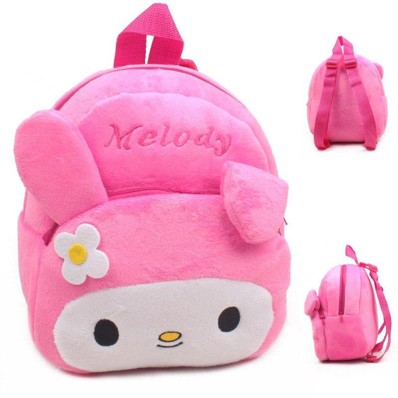 Pink Plush Backpacks Baby Toys Stuffed Bags Children Backpacks Plush Dolls Cute Plush School Bags For Baby Girls