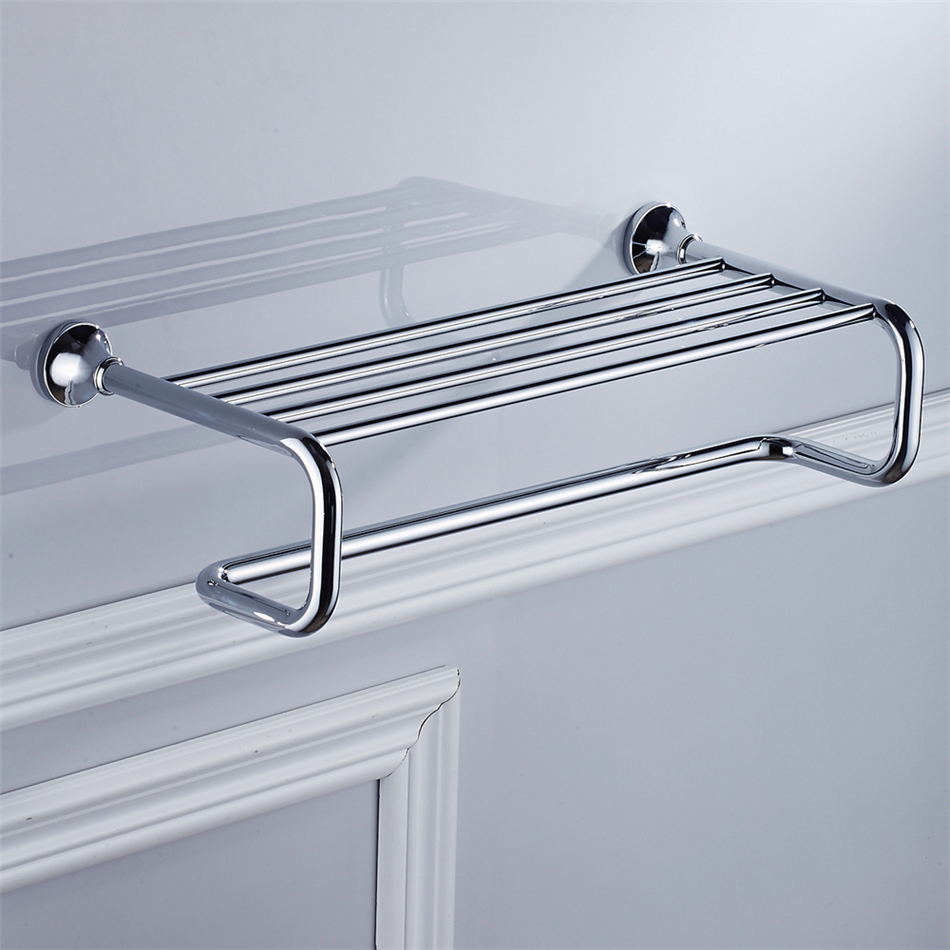 Leyden Bath Towel Rack Shelf ORB/ Antique Brass/ Golden/ Chrome ...
