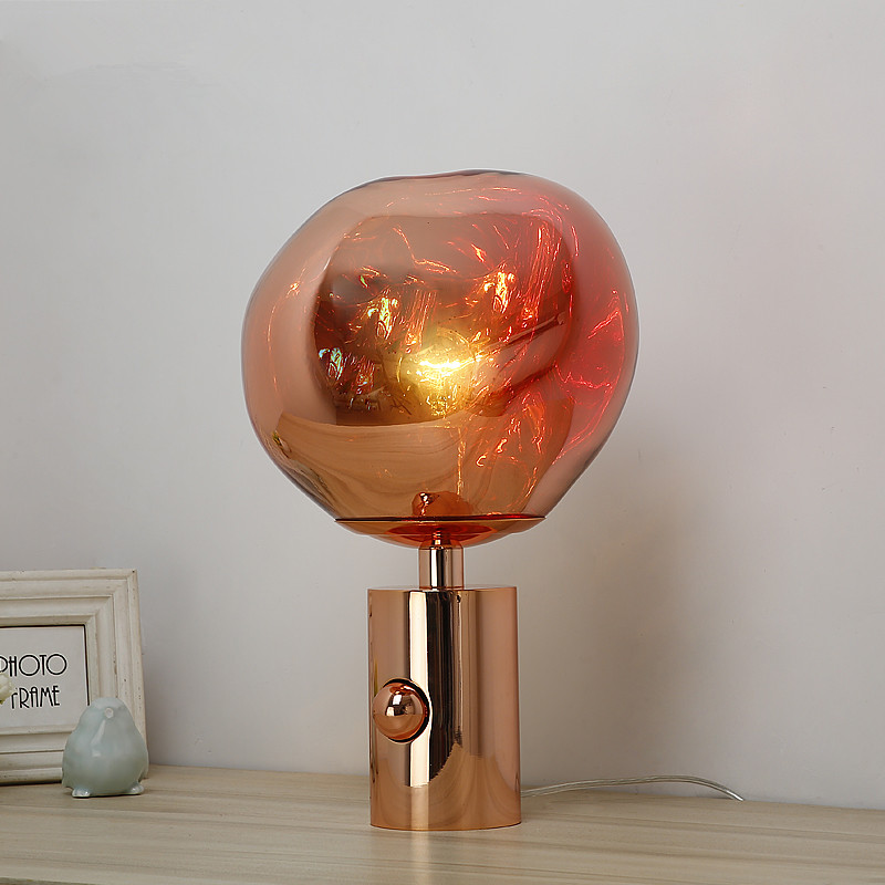 Modern Melt Glass Table Lamps led Desk Lamps Bedside Reading Sitting Room Lava Bedroom Living Room Standing Decor Light Fixtures
