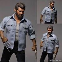 1/6 масштаб полный набор фигурка 12 ''Angry Wolverine Logan фигурка модель игрушки тело и голова Sculpt & комплект одежды дешевая доставка плата