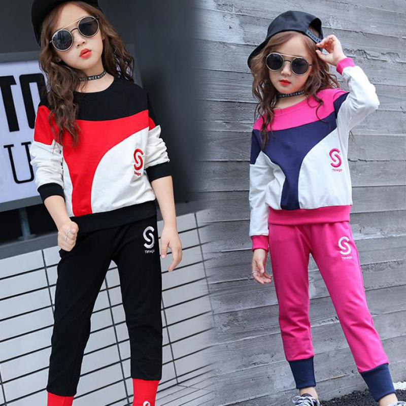 Children Clothing 2018 New Baby Girl Clothes Set Autumn Long Sleeve Print Sweatshirts + Pant 2pcs Back To School Outfits CostumeChildren Clothing 2018 New Baby Girl Clothes Set Autumn Long Sleeve Print Sweatshirts + Pant 2pcs Back To School Outfits Costume
