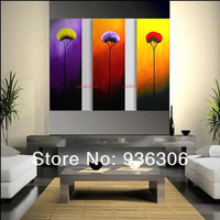 Wall Pictures Large Canvas Art Cheap Picture On Canvas 3Psc/set Flower Hand Paint Oil Painting For Living Room Home Decoraton