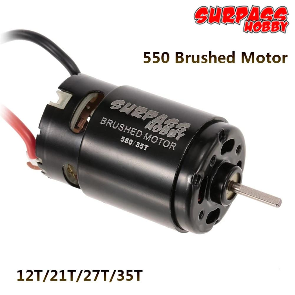 550 12T 21T 27T 35T Brushed Motor for 1/10 RC Car HSP HPI Wltoys Kyosho TRAXXAS Off-Road Rock Crawler Climbing RC Car RC Brushed hsp rc car spare parts accessories rc car body shell 39 17 5cm for hsp 1 10 rock crawler model 94180t2 hammer part 88112