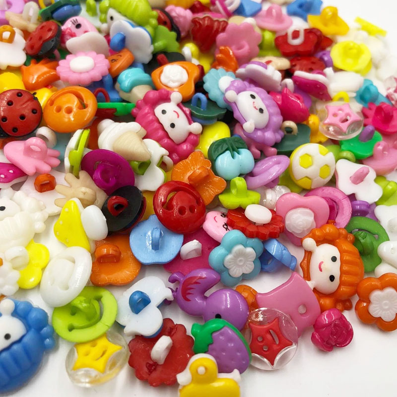 color kite 10/50/100pcs random mixed button for button