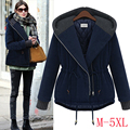 2015 Winter coats new large size women loose hooded Cotton-padded jacket  women's wadded overcoat