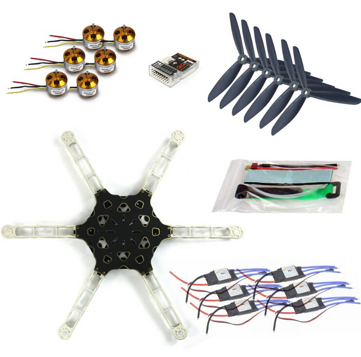 DIY FPV Multi-copter Drone QQ SUPER Multi-rotor Flight Control Alien Across Carbon Fiber RC Hexcopter Motor ESC F11798-D f07218 d diy drone quadcopter ufo arf qq super flight control motors battery esc motor welded
