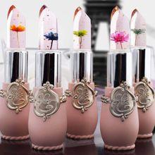 Lipstick Lipgloss Lip-Balm Flower Color-Changing-Jelly Handmade Long-Lasting Waterproof