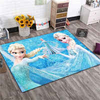 Disney Frozen Elsa Ann Rug Cartoon Princess Cute Children Room Carpet Nordic Girl Bedroom Living Room Blanket Kids Baby Game Mat