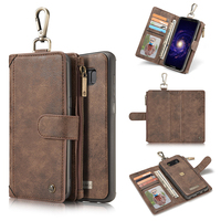 Caseme 2 in 1 Combo Multifunction Card Slots Vintage Wallet Leather Flip Phone Cases For Samsung S8 Plus S8Plus Bags Wallet