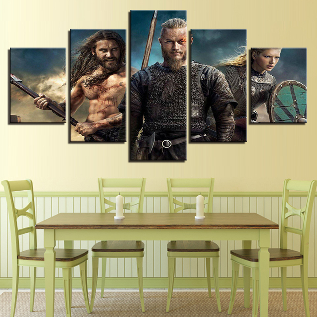 Wall Art Pictures Modern Home Decor Canvas HD Prints 5 Pieces ...