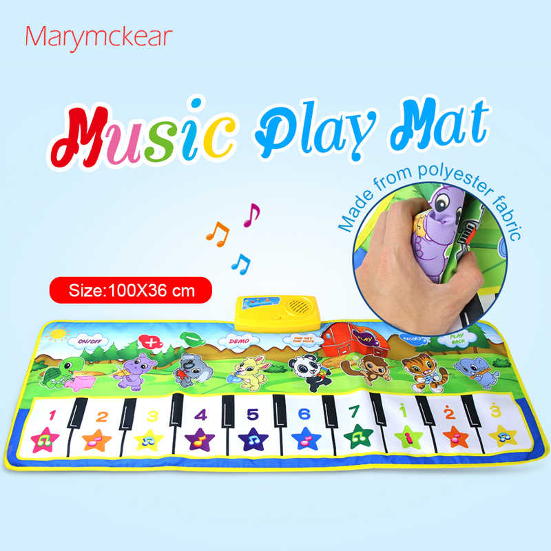 110x36cm Big Musical Mat Huile Toys Piano Toy Tambor Infantil Brinquedos Music Playing Mat Kids Education Learning Music Mat