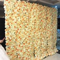 40X60cm Artificial Silk Flower Wall Rose Hydrangea Peony 3DFlower wall decoration wedding stage Hotel Background home decoration