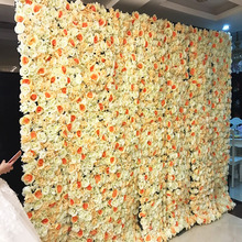 40X60cm Artificial Silk Flower Wall Rose Hydrangea Peony wall decoration wedding stage Hotel Background home