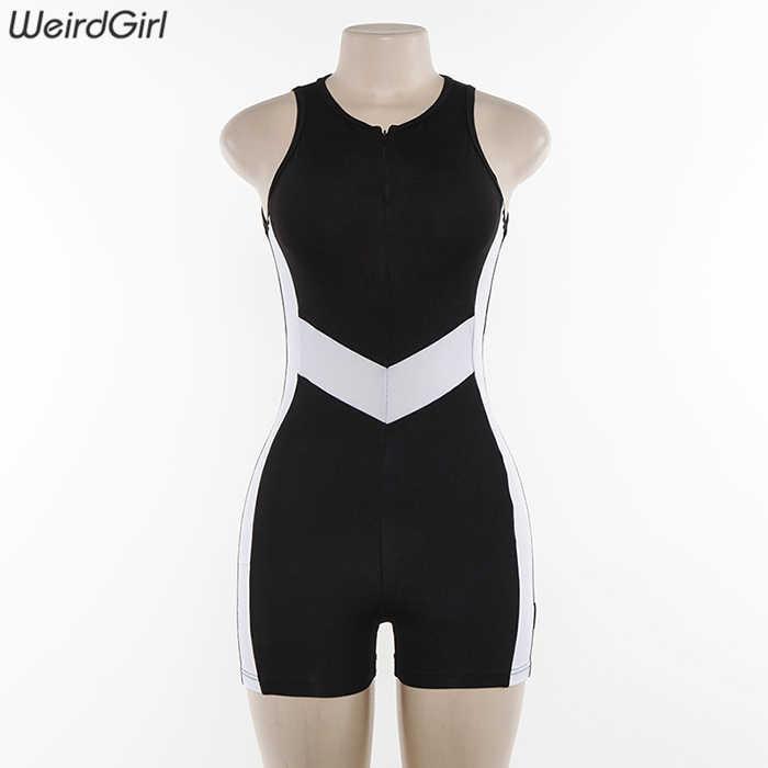 Weirdgirl женские боди фитнес v-образным вырезом в полоску без рукавов Повседневная мода Спортивная Тонкий Теннис femme