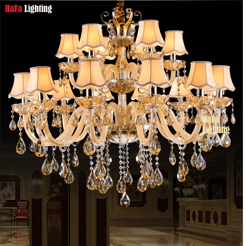 Modern Crystal Light Beige Chandelier crystal Lighting vintage chandelier lights light Pendant