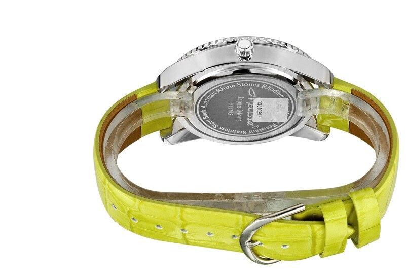 Nouveauté MELISSA cristal vague montres à la mode femmes en cuir robe Montre bracelet japon Quartz Reloj Feminino Montre F11795 - 5
