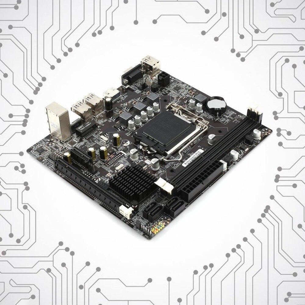 2018 nouveau professionnel H61 ordinateur de bureau carte mère mère 1155 Pin CPU Interface mise à niveau USB2.0 DDR3 1600/1333