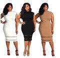 Mujeres del vestido 2016 del verano mujeres de la manera fit y flare alta calidad más tamaño ocasional vestido de festa vestidos de oficina