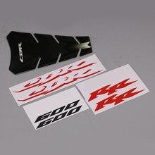 RED/BLUE 3D CBR 600 RR Motocicleta Adesivo Decalque Para Honda CBR600RR CBR 600RR F5 Todos Os Modelos Preto Pad Tanque CBR Prorector