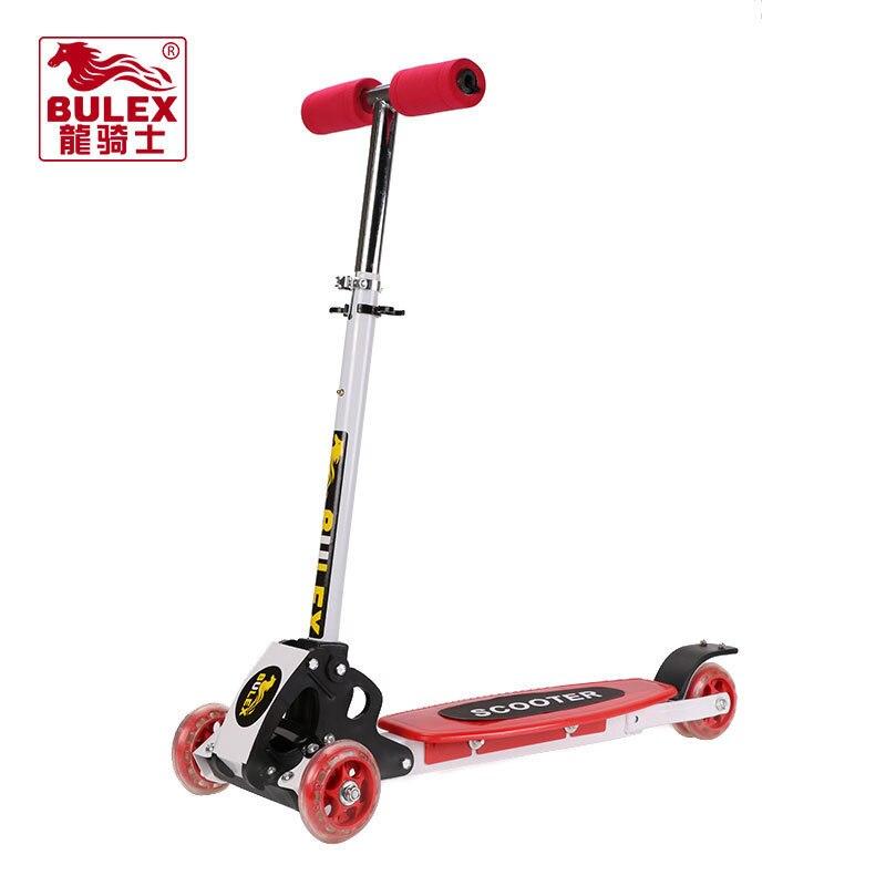 kids scooter round four 4 wheel roller skates fold baby. Black Bedroom Furniture Sets. Home Design Ideas