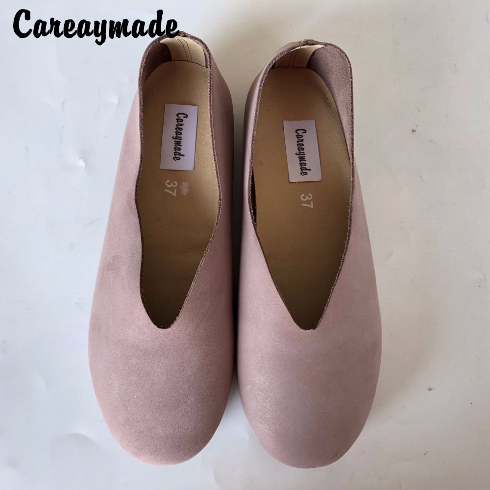 Careaymade-Spring,Genuine leather shoes,Pure handmade flat shoes,Women the retro art mori girl shoes ,Women fashion Casual shoes huifengazurrcs new pure handmade casual