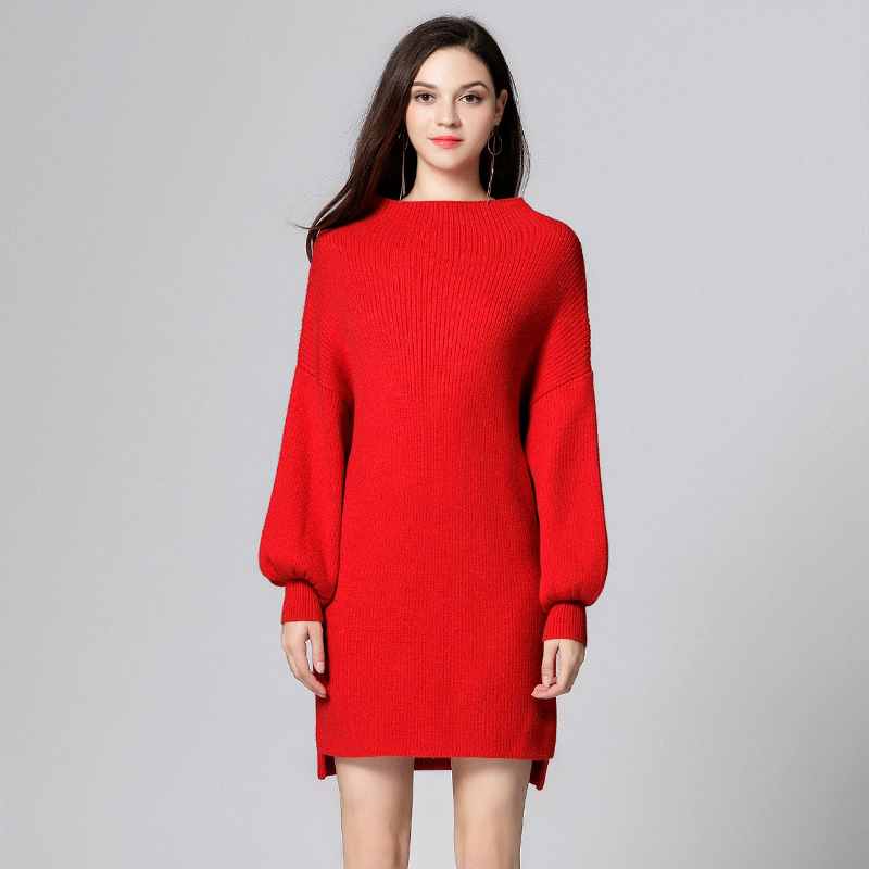 Aliexpress Buy Women Sweater Dress Plus Size 5xl Red Knitting