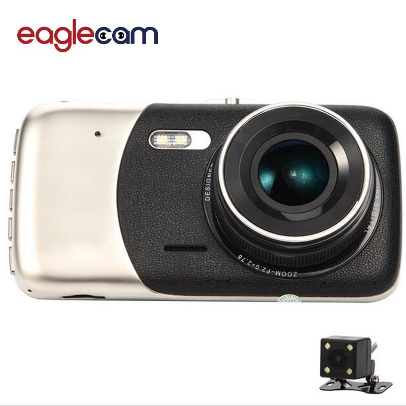 imágenes para 2017 Nuevo 4.0 pulgadas de Doble lente Del Coche DVR de la Cámara Hd 1080 P Auto Dash Cam Video Recorder Con LED de Visión Nocturna Cámara de Visión Trasera